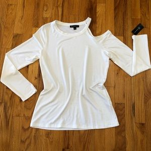 ✨ INC | One Cold Shoulder Long Sleeve Top